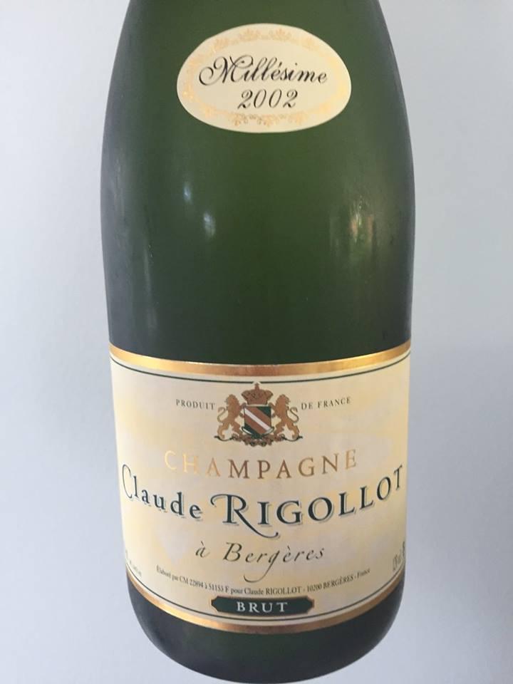 Champagne Claude Rigollot – Millésime 2002 – Brut