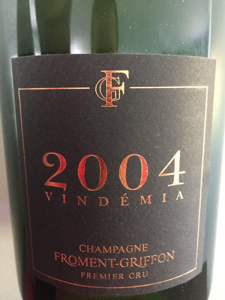 Champagne Froment-Griffon – Vindémia 2004 – Premier Cru