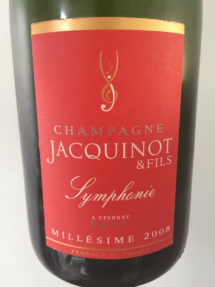 Champagne Jacquinot & Fils – Symphonie 2008 – Brut