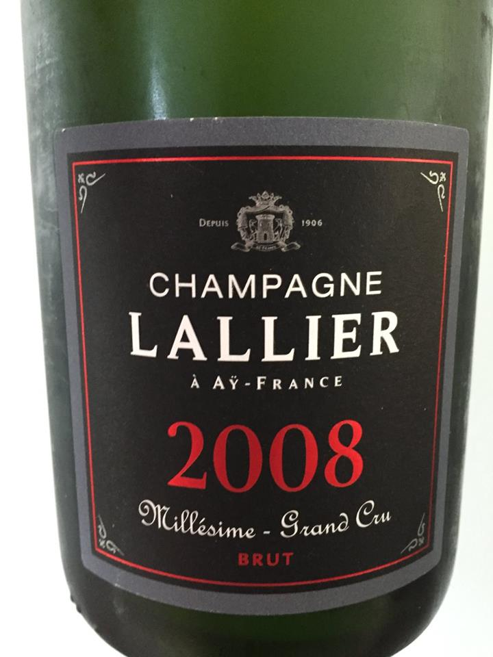 Champagne Lallier – Millésime 2008 – Grand Cru – Brut