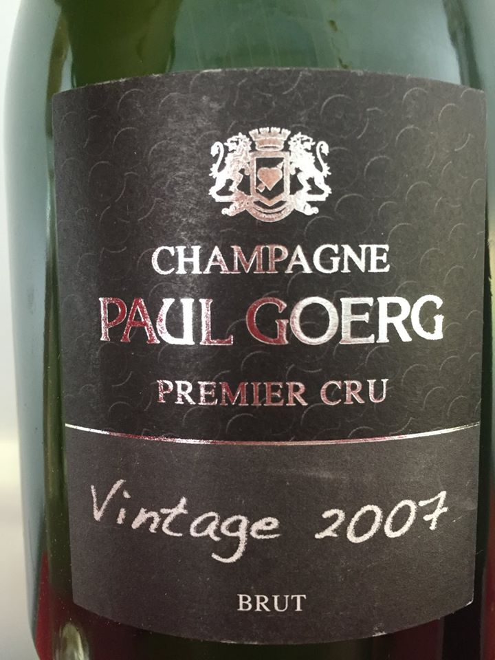 Champagne Paul Goerg – Vintage 2007 – Premier Cru– Brut