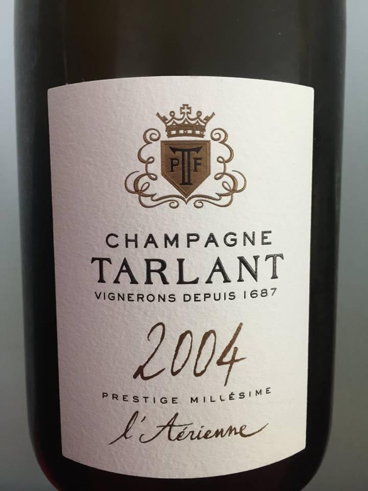 Champagne Tarlant – L'Aérienne 2004 – Prestige Millésime
