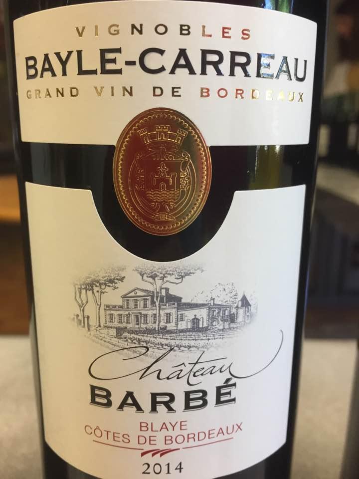 Château Barbé 2014 – Blaye Côtes de Bordeaux