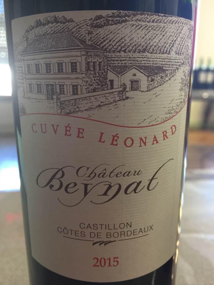 Château Beynat – Cuvée Léonard 2015 – Castillon Côtes-de-Bordeaux
