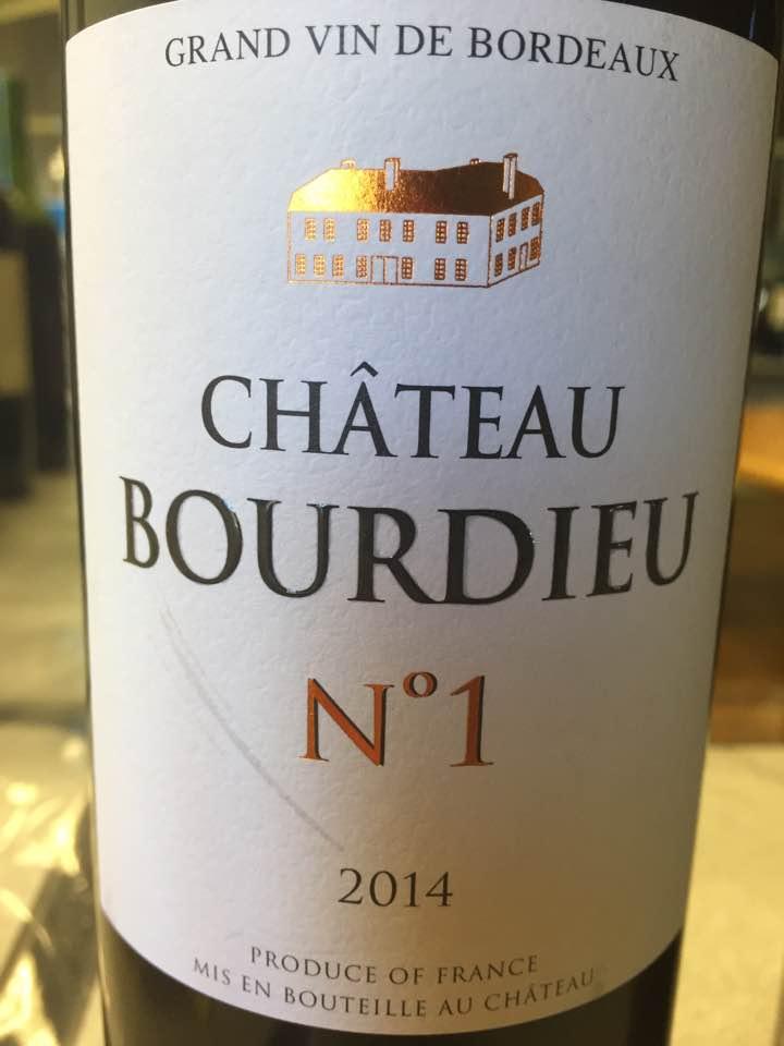 Château Bourdieu N°1 2014 – Blaye Côtes de Bordeaux