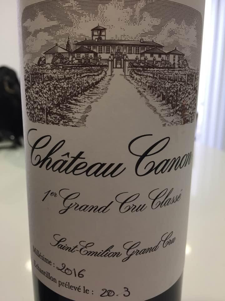 Château Canon 2016 – 1er Grand Cru Classé, Saint-Emilion