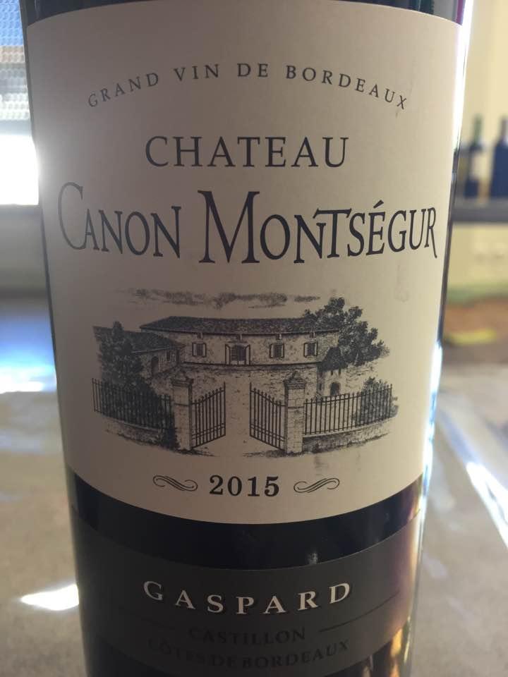Château Canon Montségur – Cuvée Gaspard 2015 – Castillon Côtes-de-Bordeaux