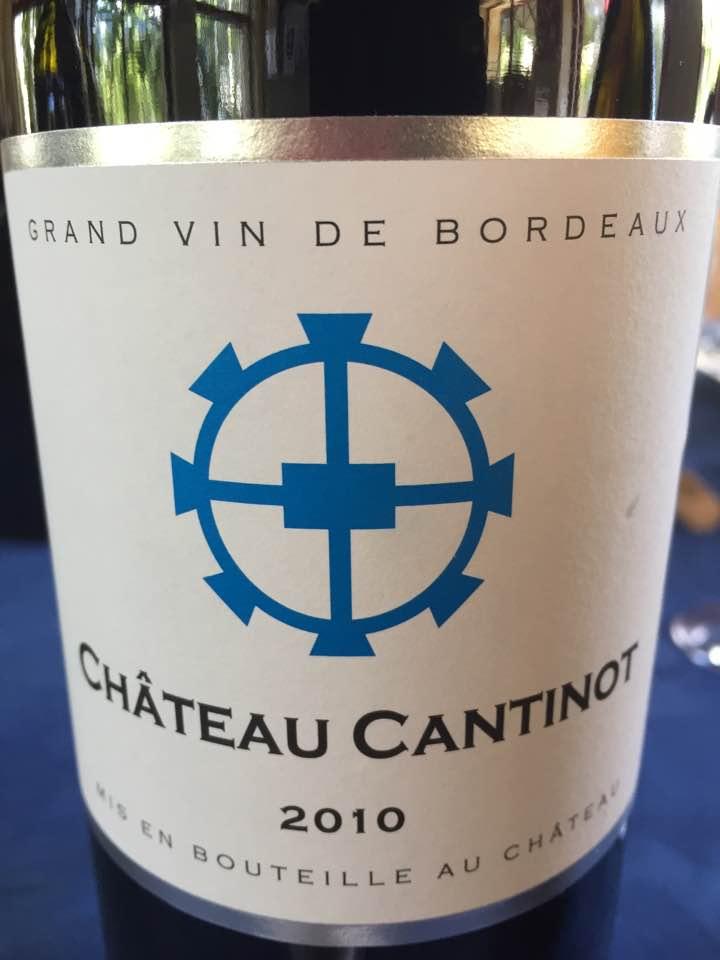 Château Cantinot 2010 – Blaye Côtes de Bordeaux