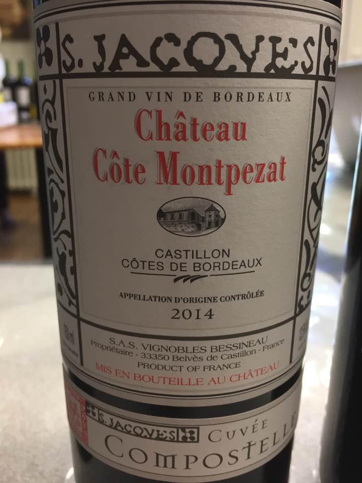Château Cote Montpezat – Cuvée Compostelle 2014 – Castillon Côtes-de-Bordeaux
