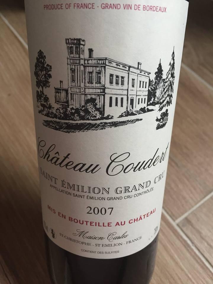 Château Coudert 2007 – Saint-Emilion Grand Cru