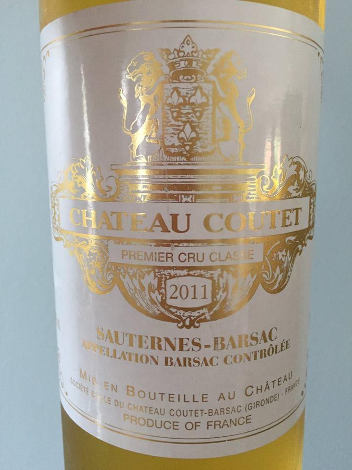 Château Coutet 2011, Barsac, Grand Cru Classé Sauternes-Barsac