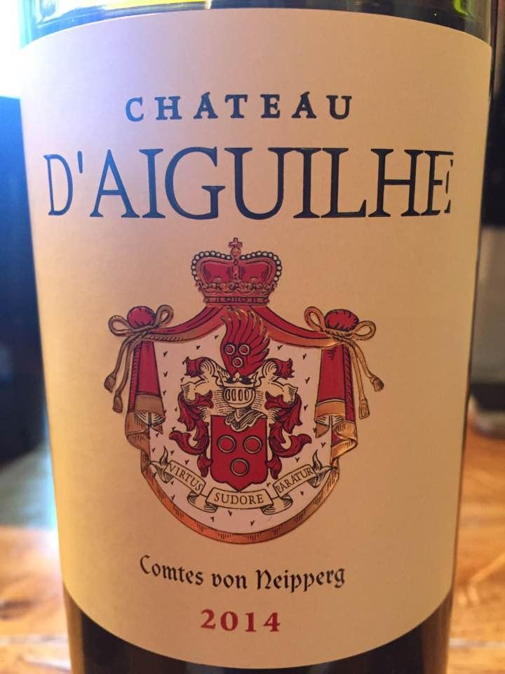 Château d'Aiguilhe 2014 – Castillon Côtes de Bordeaux