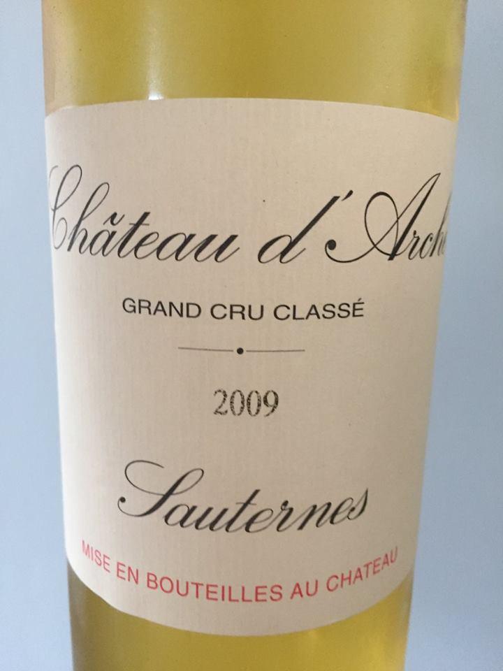 Château d'Arche 2009 – Sauternes, 2ème Grand Cru Classé
