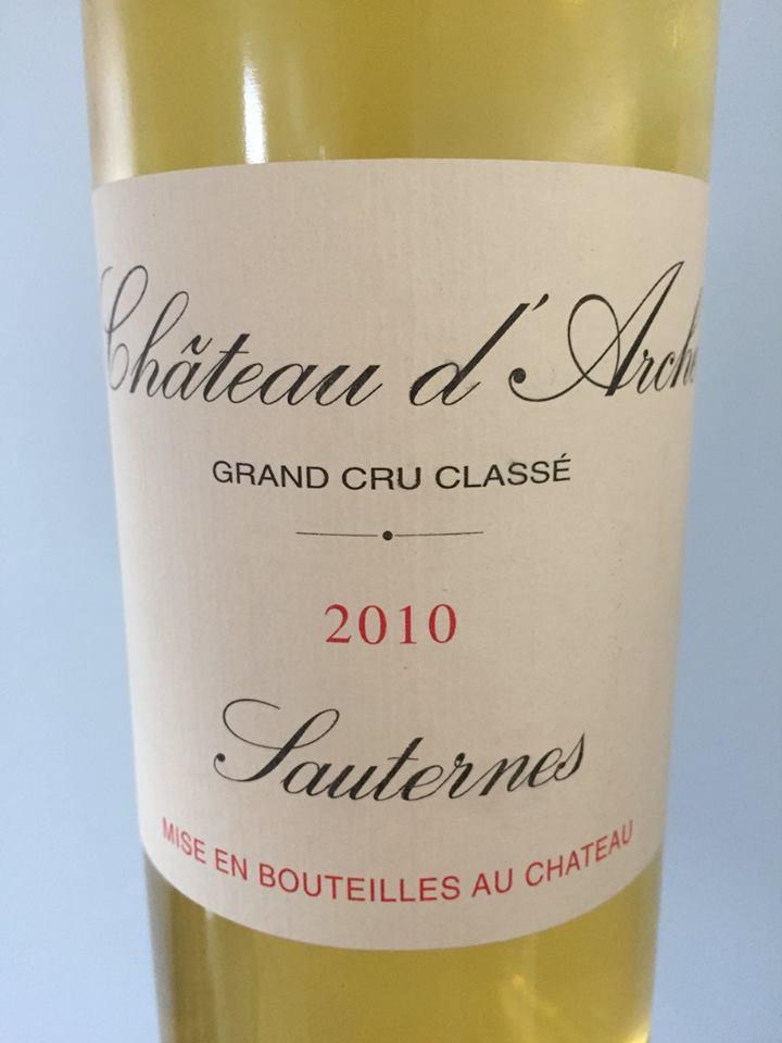 Château d'Arche 2010 – Sauternes, 2ème Grand Cru Classé