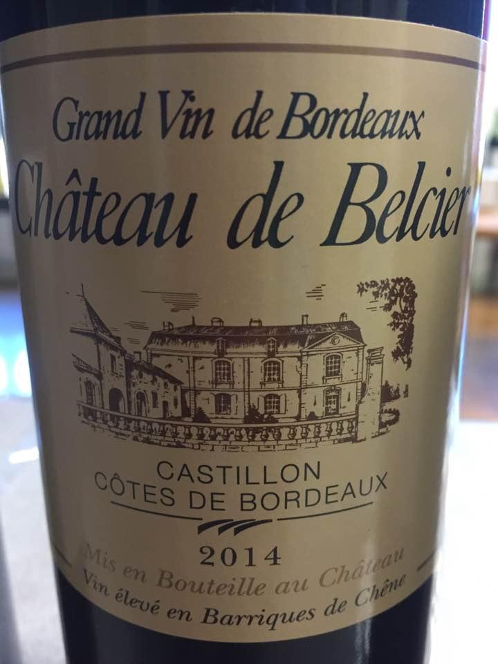 Château de Belcier 2014 – Castillon Côtes-de-Bordeaux