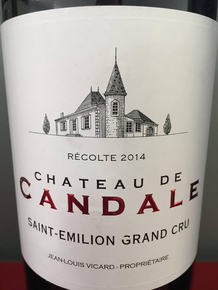 Château de Candale 2014 – Saint-Emilion Grand Cru