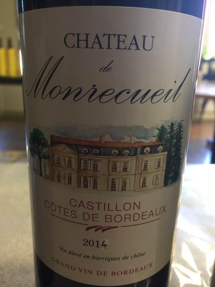 Château de Monrecueil 2014 – Castillon Côtes-de-Bordeaux