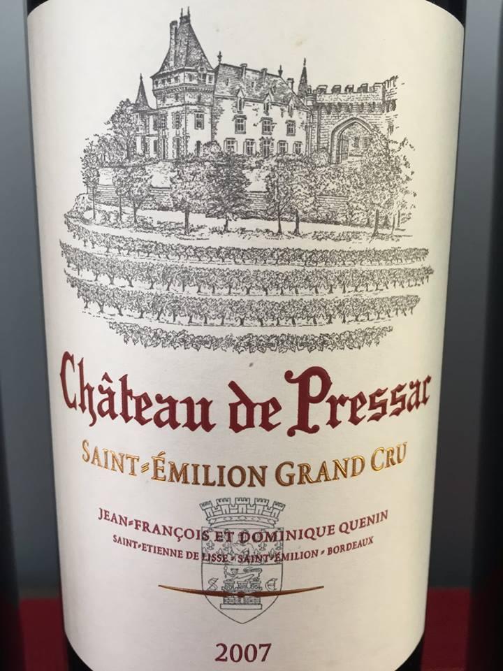Château de Pressac 2007 – Saint-Emilion Grand Cru