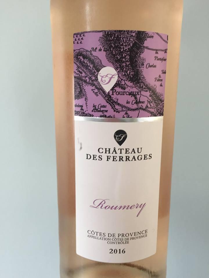 Château des Ferrages – Roumery 2016 – Côtes de Provence