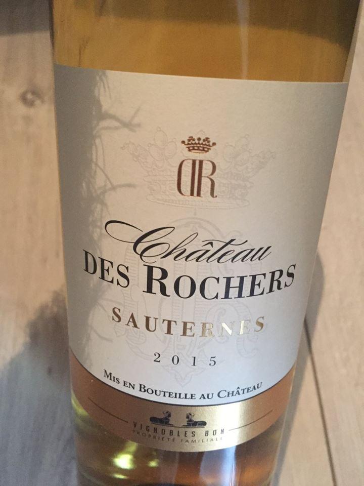 Château des Rochers 2015 – Sauternes