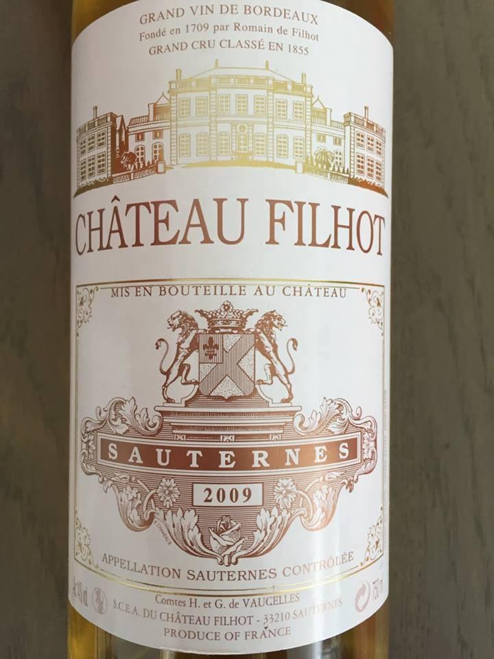Château Filhot 2009 – Sauternes, 2ème Grand Cru Classé