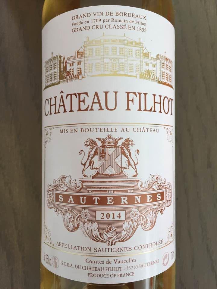 Château Filhot 2014 – Sauternes, 2ème Grand Cru Classé