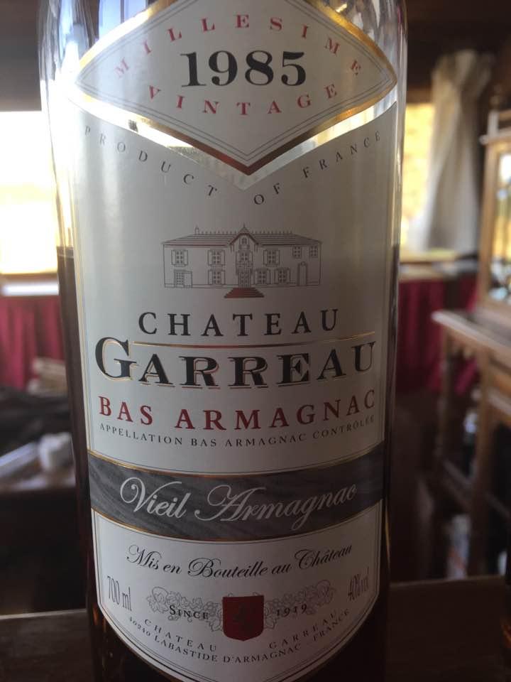 Château Garreau 1985 – Bas-Armagnac