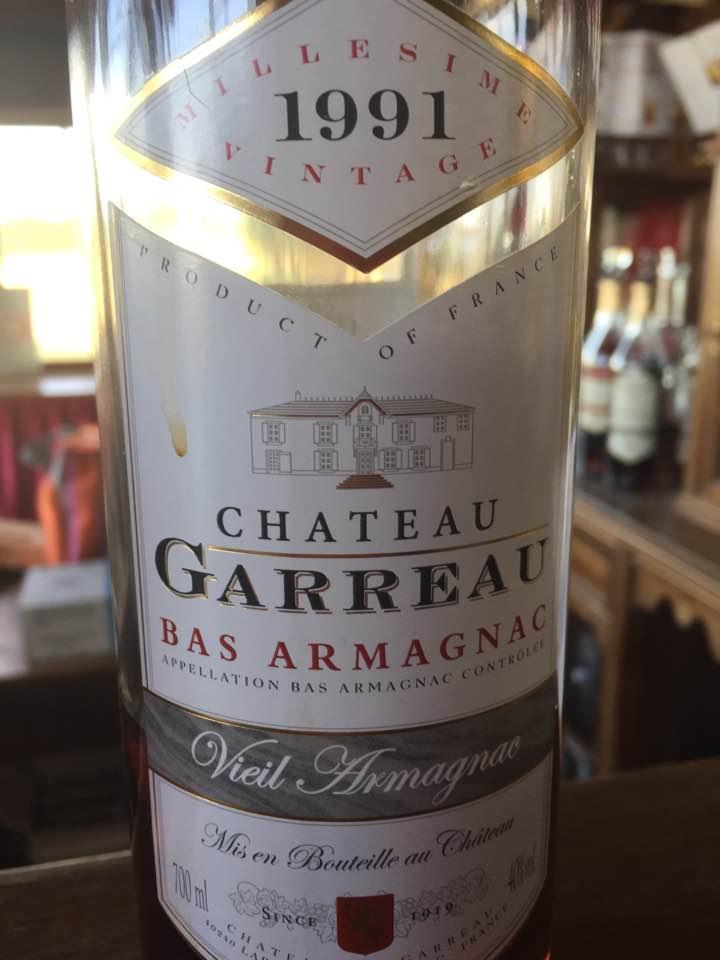 Château Garreau 1991 – Bas-Armagnac