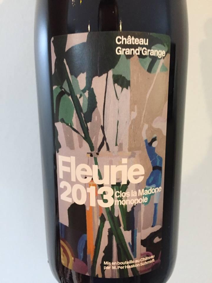 Château Grand'Grange – Clos La Madone 2013 Monopole – Fleurie