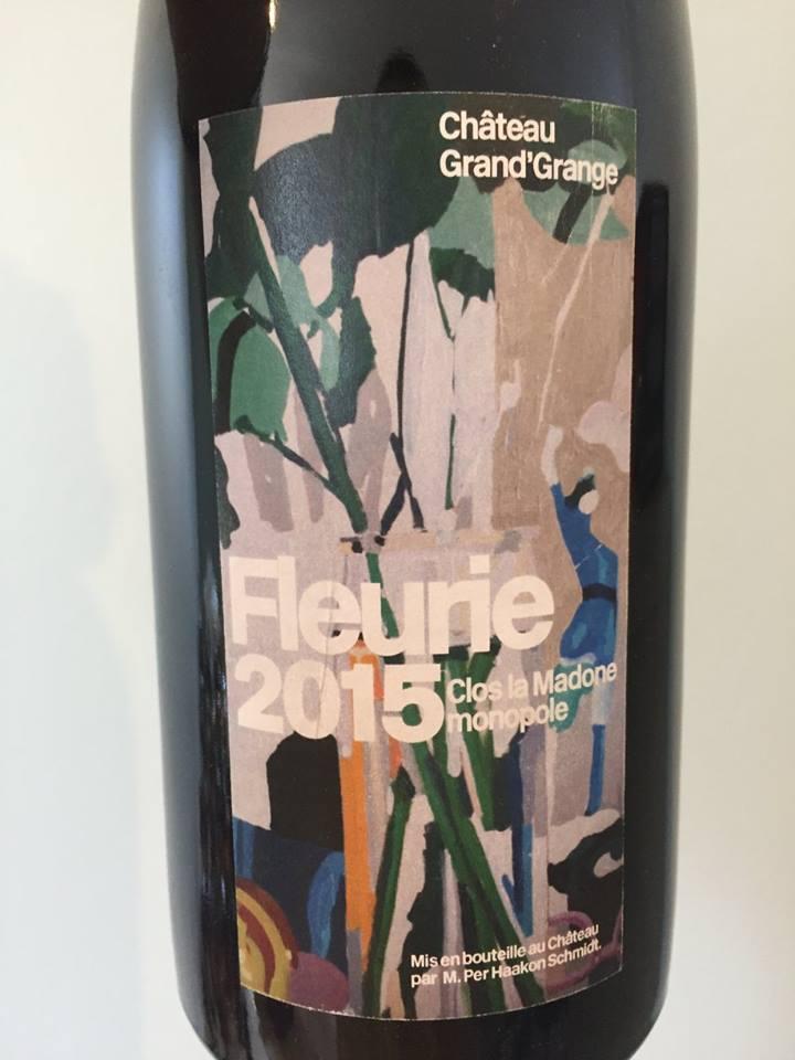 Château Grand'Grange – Clos La Madone 2015 Monopole – Fleurie
