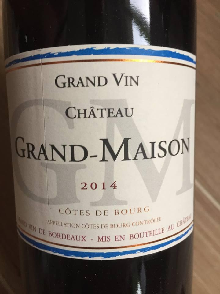 Château Grand-Maison 2014 – Côtes de Bourg