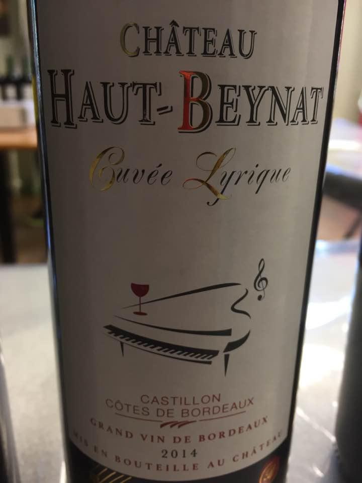 Château Haut Beynat – Cuvée Lyrique 2014 – Castillon Côtes-de-Bordeaux