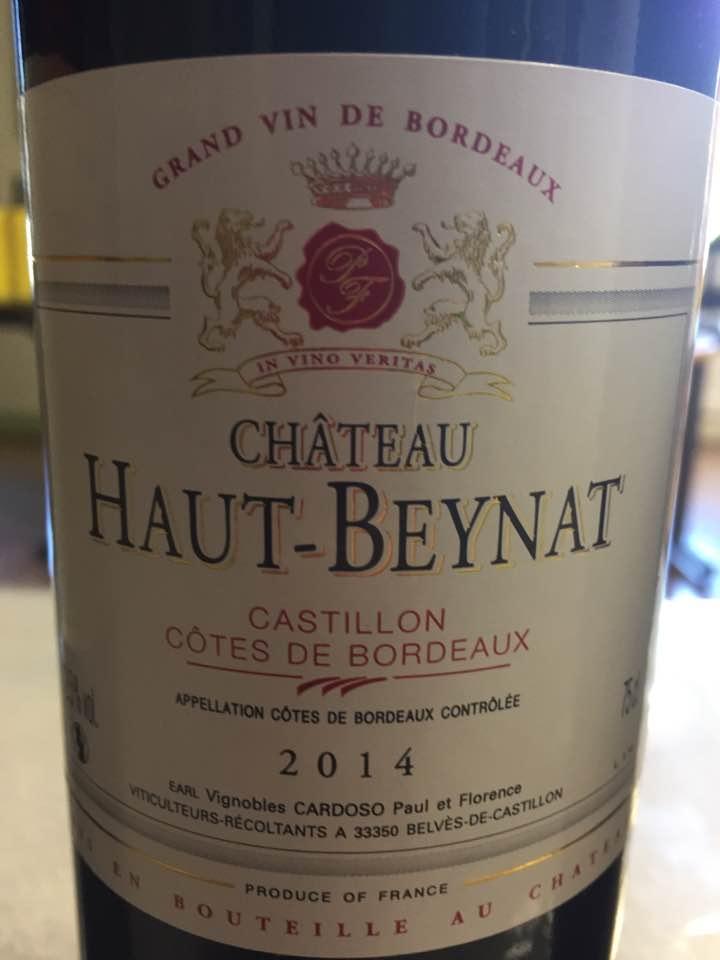Château Haut Beynat – Tradition 2014 – Castillon Côtes-de-Bordeaux