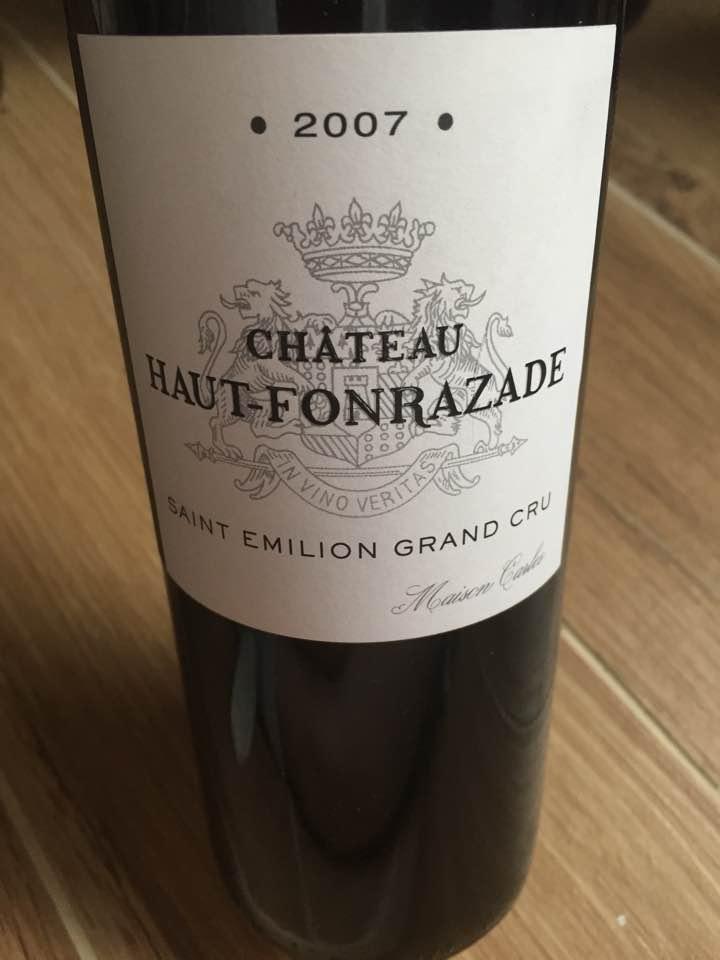 Château Haut-Fonrazade 2007 – Saint-Emilion Grand Cru