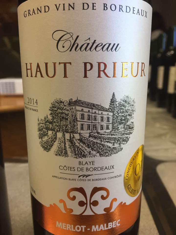 Château Haut Prieur 2014 – Blaye Côtes de Bordeaux