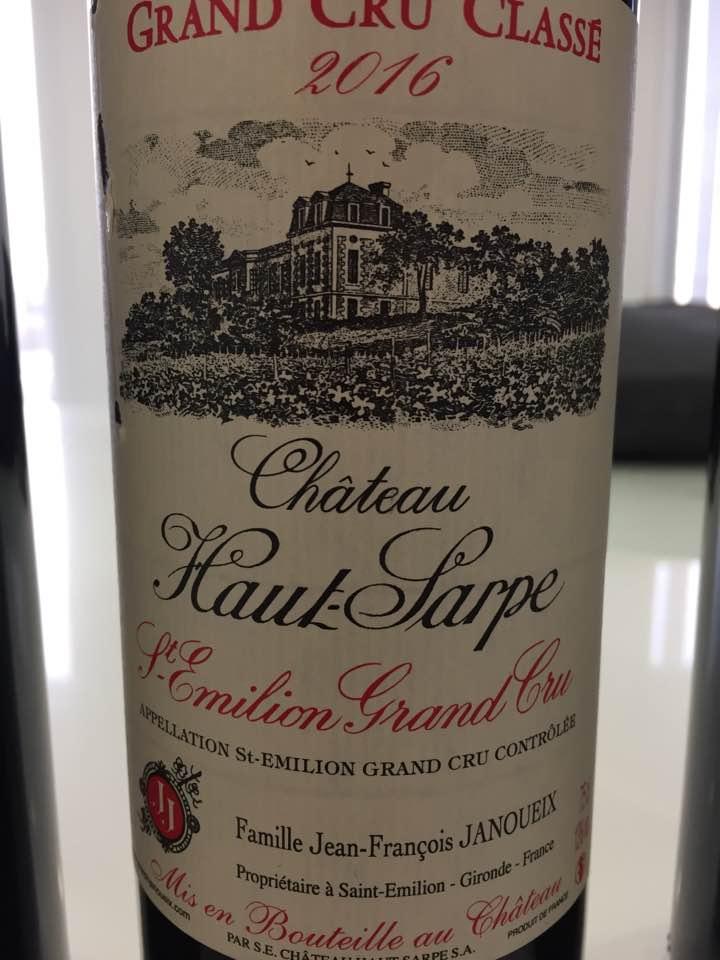 Château Haut-Sarpe 2016 – Saint-Emilion Grand Cru Classé