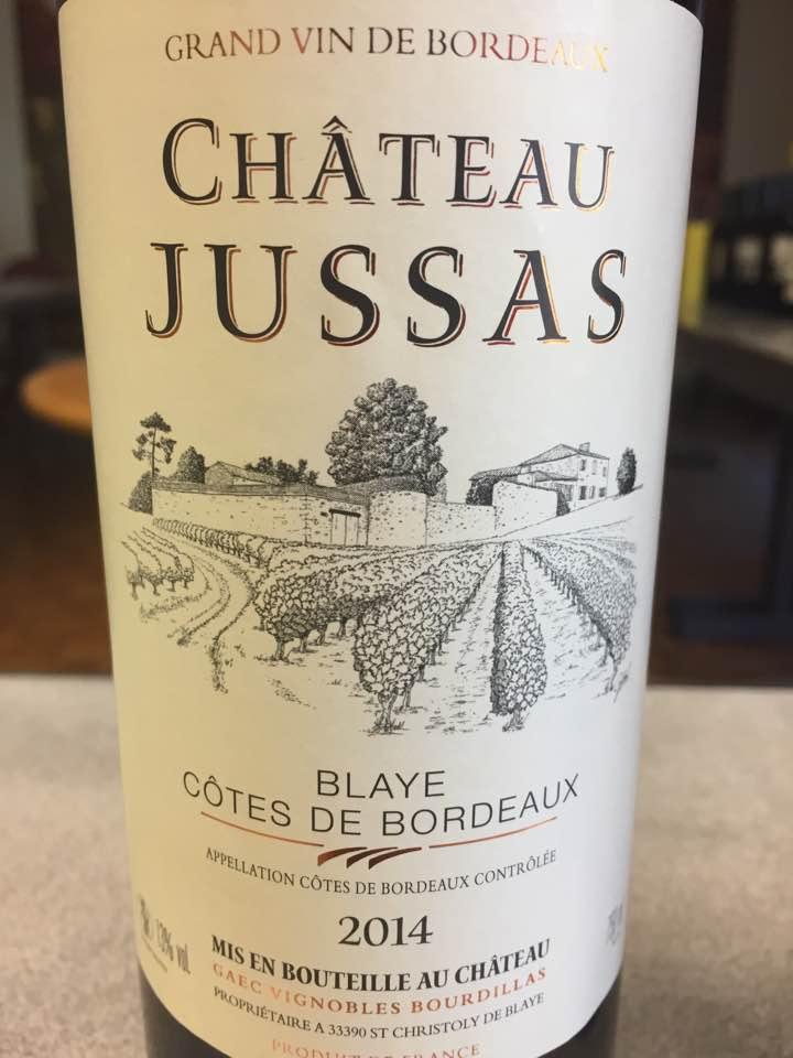 Château Jussas 2014 – Blaye Côtes de Bordeaux