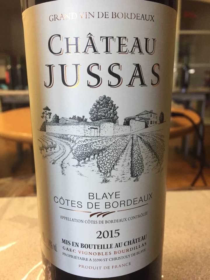 Château Jussas 2015 – Blaye Côtes de Bordeaux