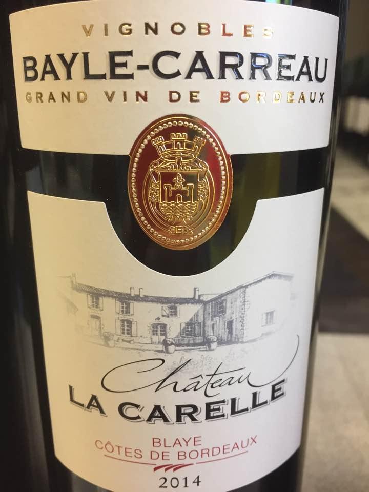 Château La Carelle 2014 – Blaye Côtes de Bordeaux