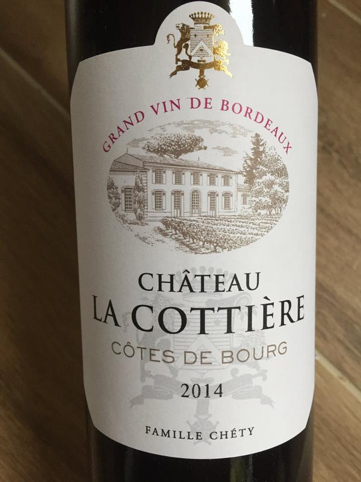 Château la Cottière 2014 – Côtes de Bourg