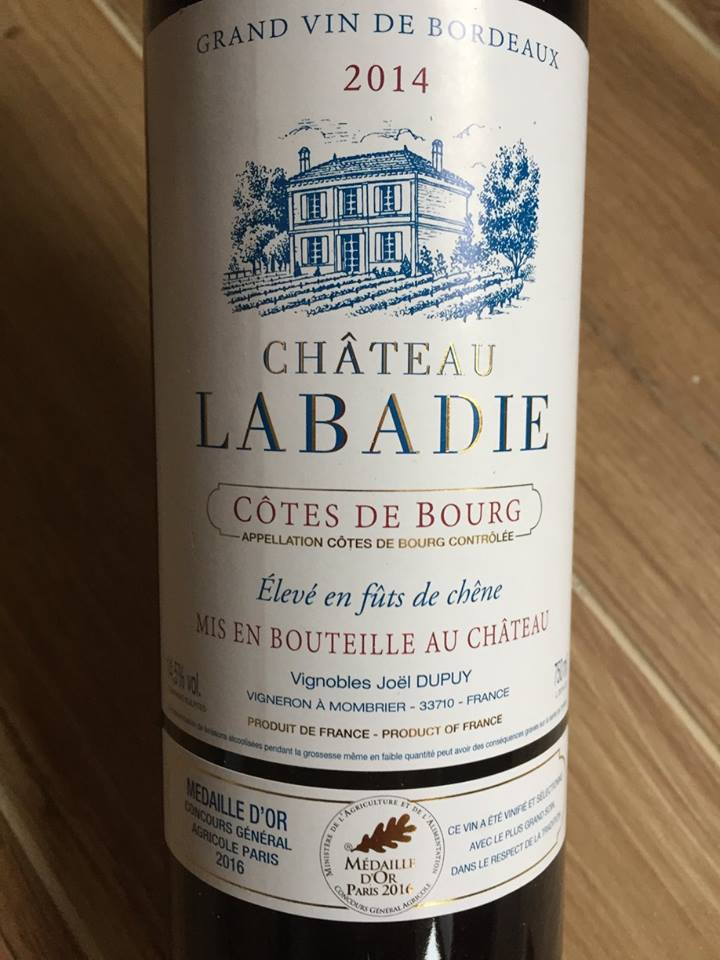 Château Labadie 2014 – Côtes de Bourg