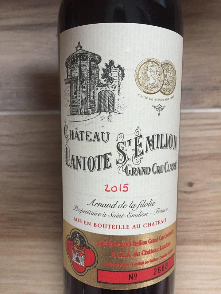 Château Laniote 2015 – Saint-Emilion Grand Cru Classé