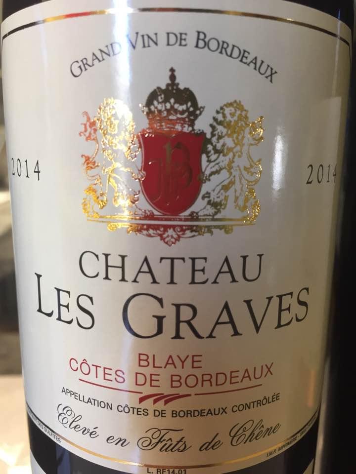Château Les Graves 2014 – Blaye Côtes de Bordeaux