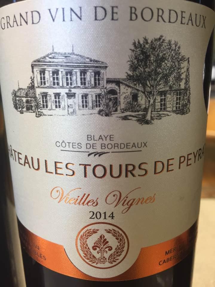 Château Les Tours de Peyrat – Vieilles Vignes 2014 – Blaye Côtes de Bordeaux