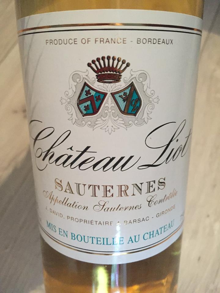 Château Liot 2015 – Sauternes