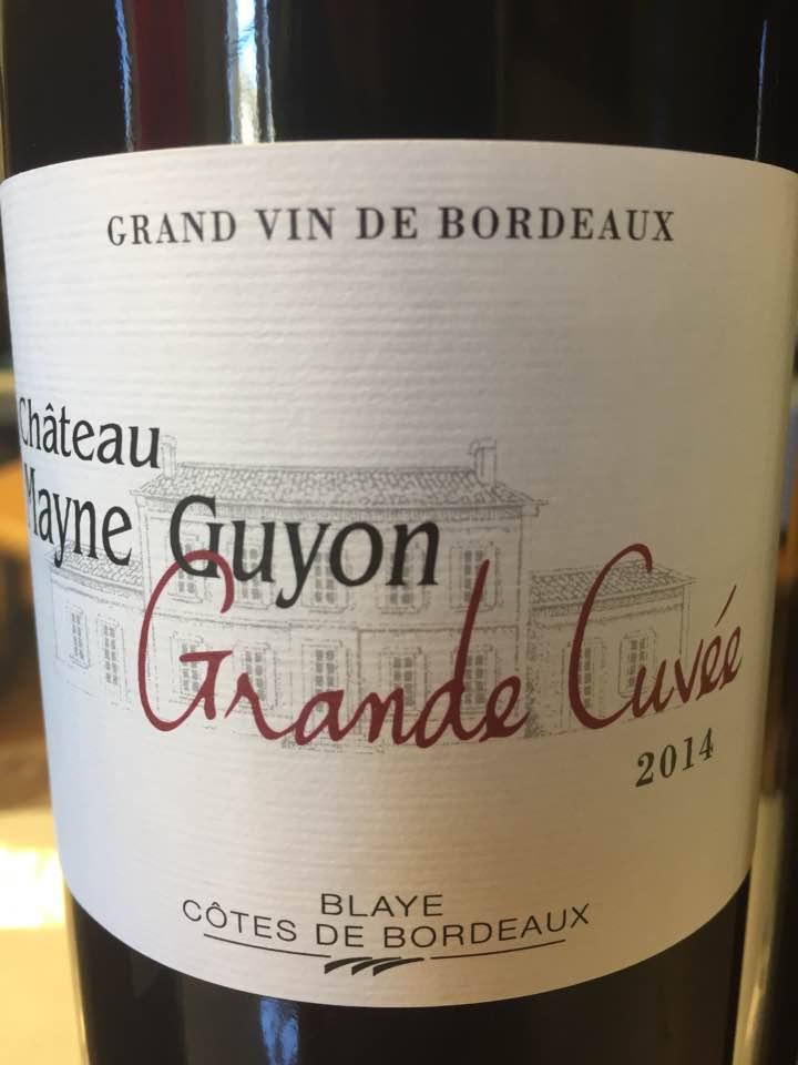 Château Mayne Guyon – Grande Cuvée 2014 – Blaye Côtes de Bordeaux
