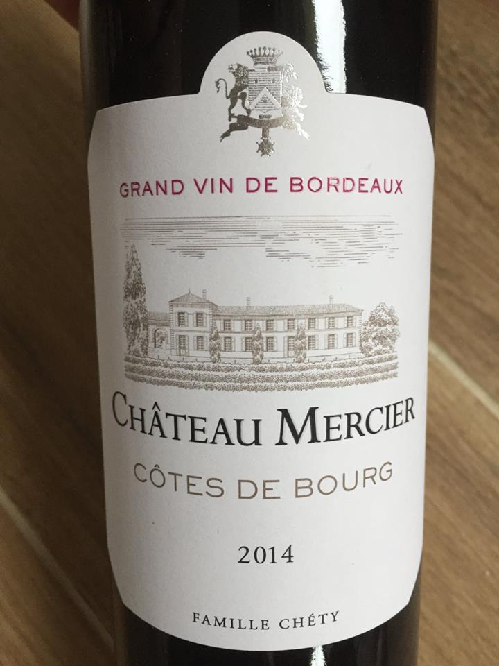 Château Mercier 2014 – Côtes de Bourg