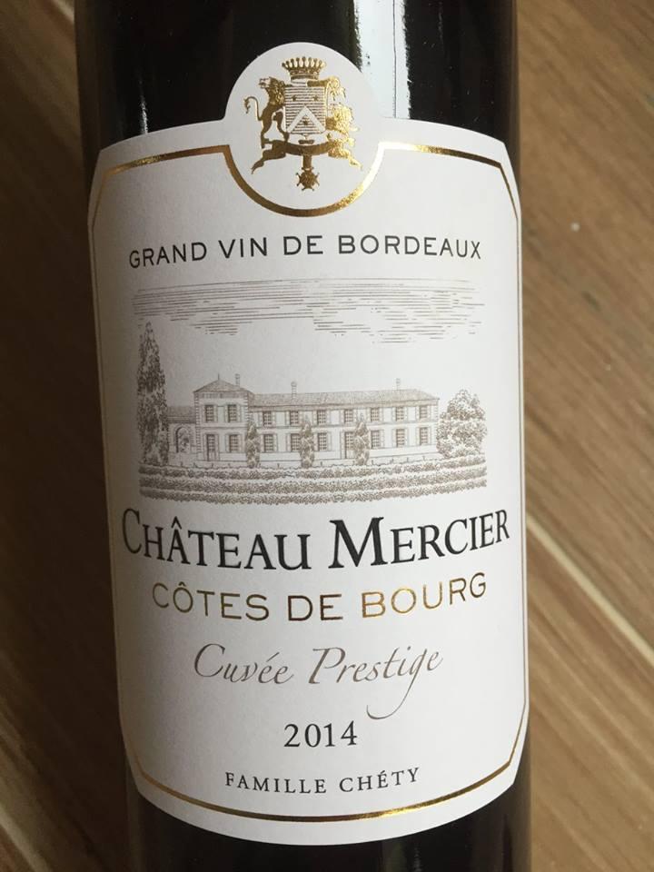 Château Mercier – Cuvée Prestige 2014 – Côtes de Bourg