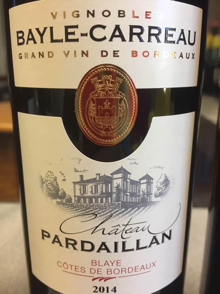 Château Pardaillan 2014 – Blaye Côtes de Bordeaux