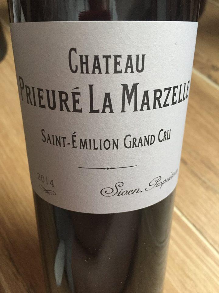 Château Prieuré La Marzelle 2014 – Saint-Emilion Grand Cru